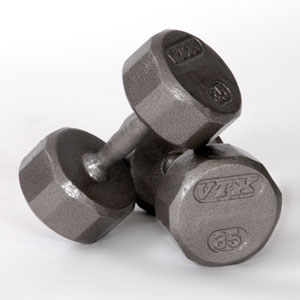 12 Sided Cast Iron Dumbbells - Click Image to Close
