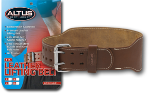 4 in. Leather Lifting Belt