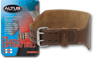 6 in. Leather Lifting Belt