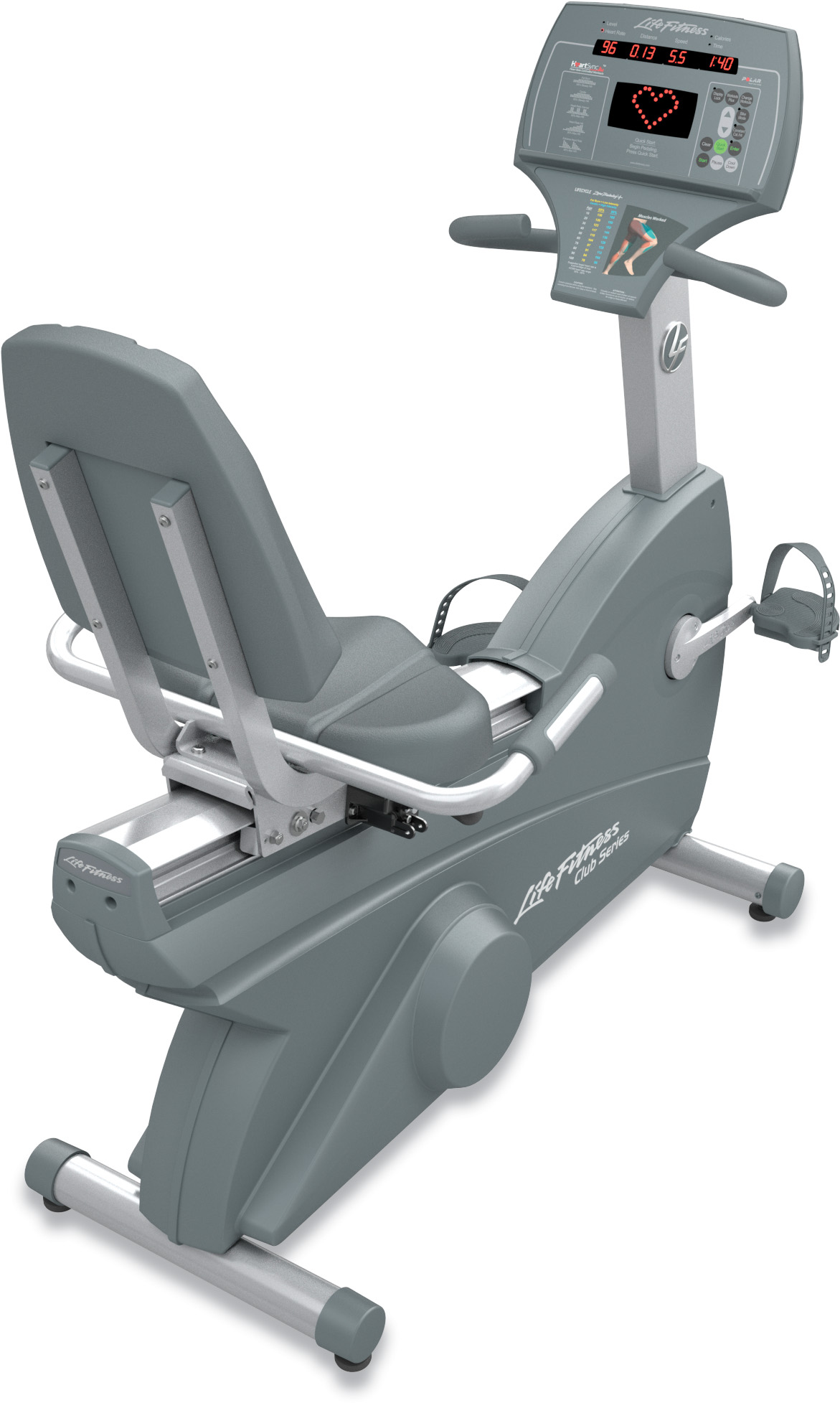 Life Fitness Club Recumbent Stationary Bike