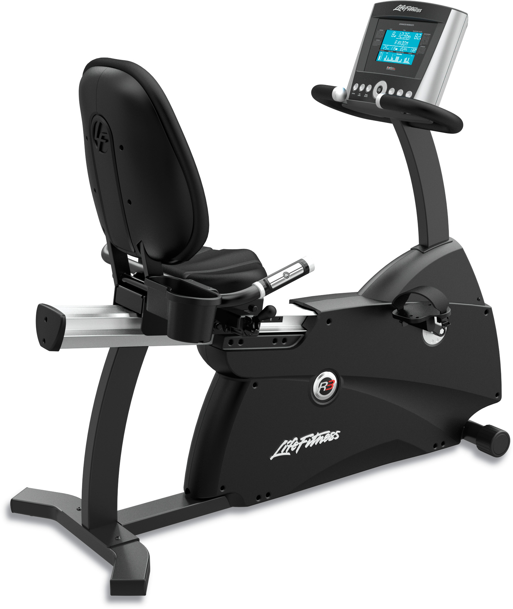 Life Fitness R3 Recumbent Stationary Bike w/ Basic Screen